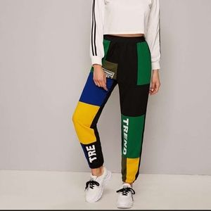 Shien | High Waisted Colour Block Pants